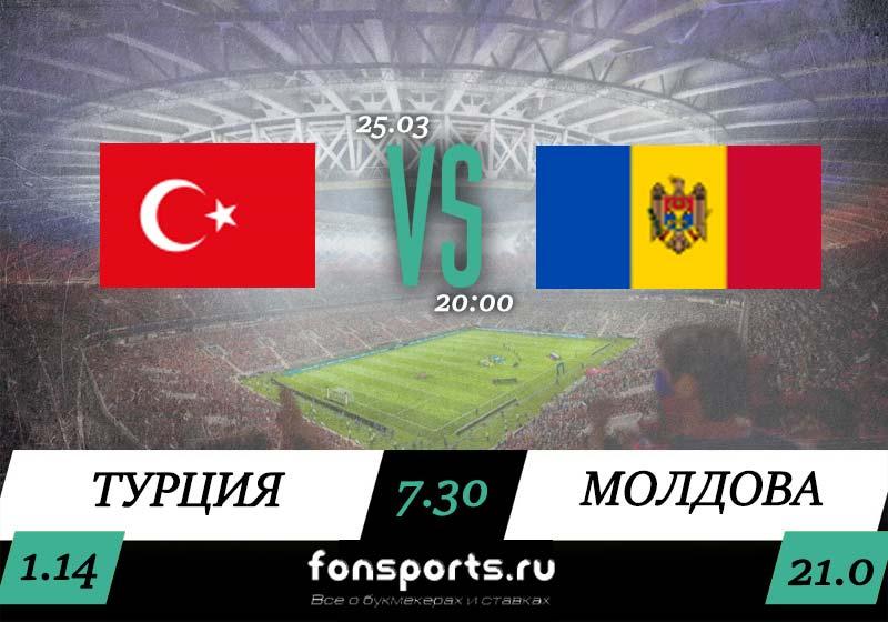 Турция - Молдова. Прогноз и обзор матча (25 марта 2019)