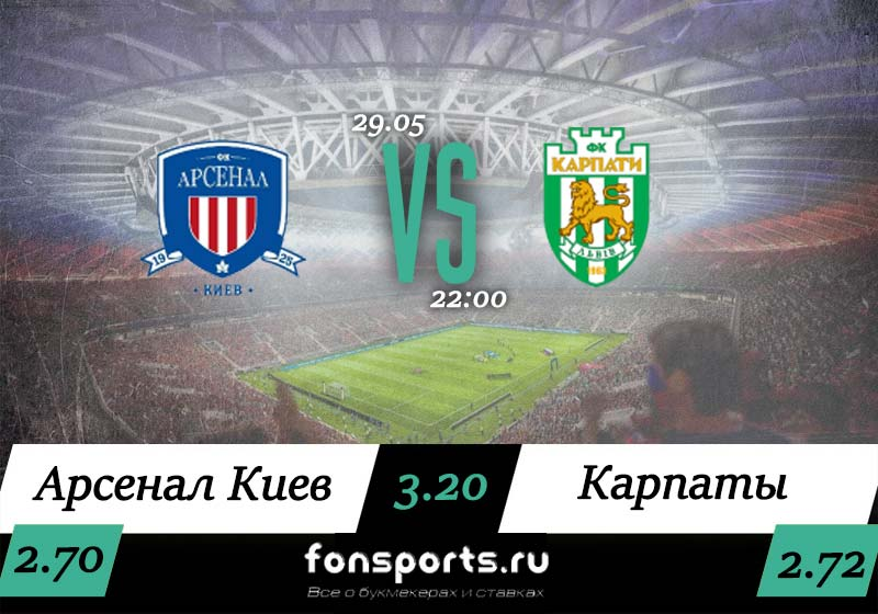 Арсенал Киев – Карпаты прогноз и статистика 29 мая 2019