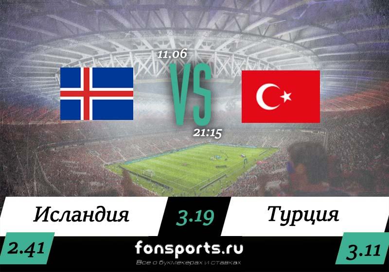 Исландия – Турция прогноз и статистика, 11 июня 2019