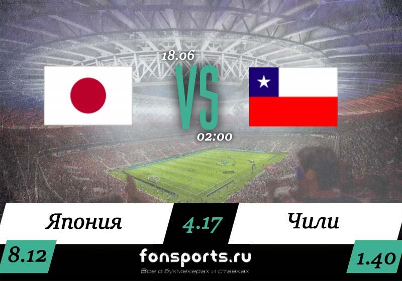 Япония – Чили прогноз и статистика (18 июня 2019)