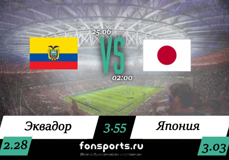 Эквадор - Япония прогноз и обзор матча, 25 июня 2019 года