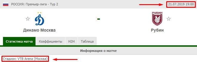 Динамо – Рубин прогноз и статистика (21 июля 2019)