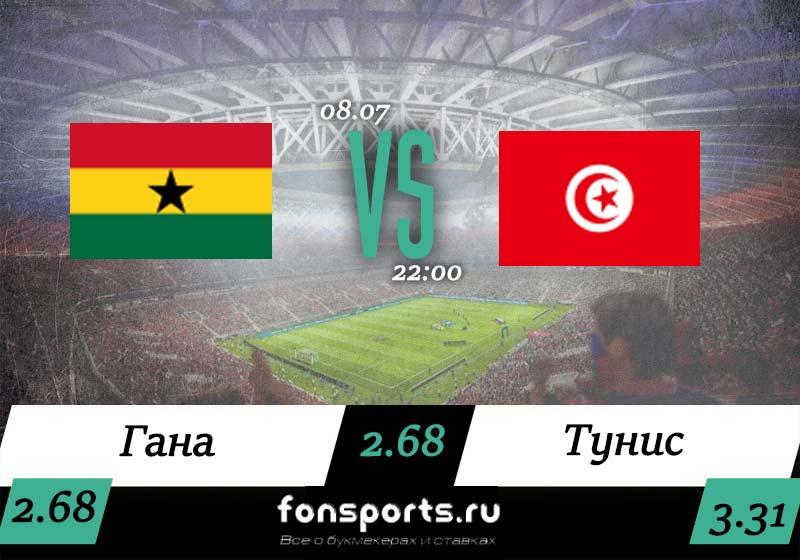 Гана – Тунис прогноз и статистика, 8 июля 2019