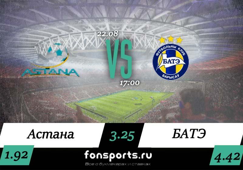 Астана – БАТЭ: прогноз и обзор матча