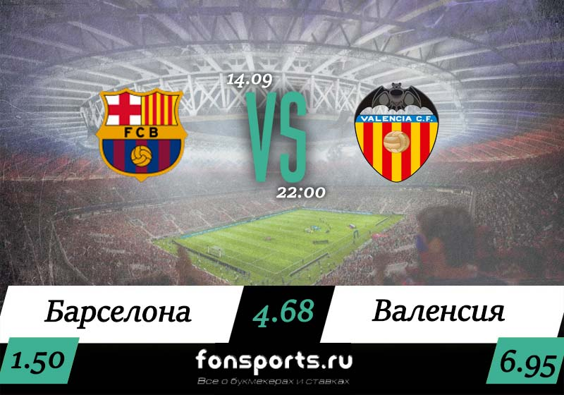 Барселона – Валенсия прогноз и статистика (14.09.2019)
