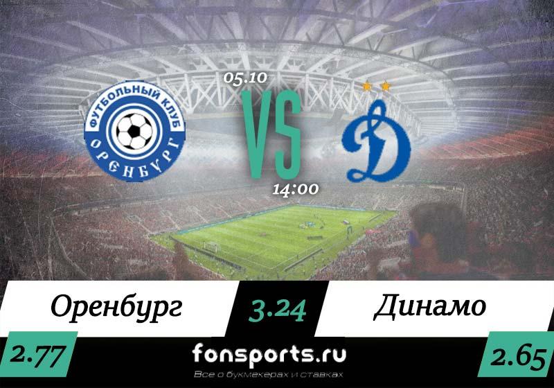 Оренбург – Динамо Москва: прогноз на РПЛ (05.10.2019)