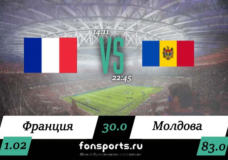 Прогноз Франция – Молдова 14 ноября 2019