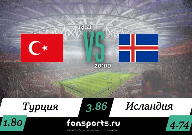 Прогноз Турция – Исландия на 14 ноября 2019