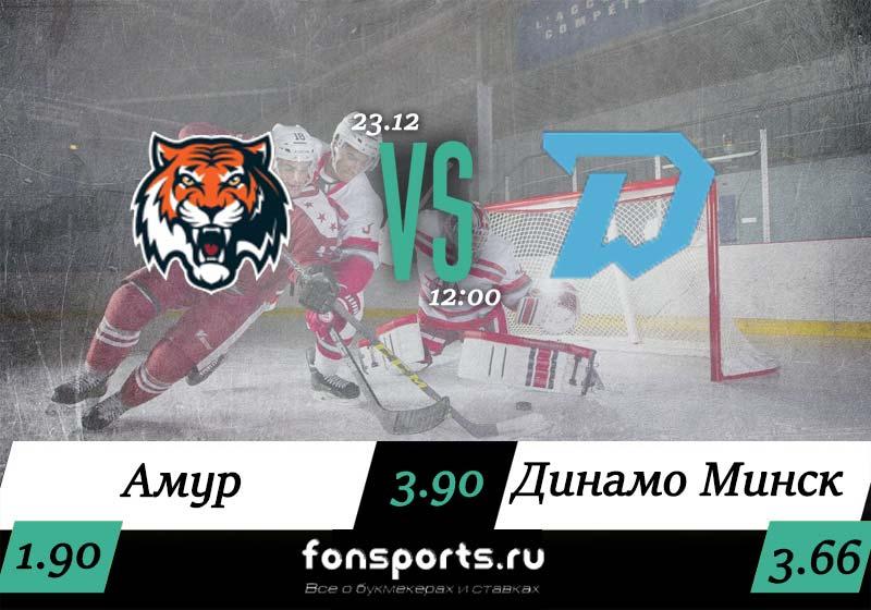 Амур – Динамо Минск прогноз и статистика (23 декабря 2019)