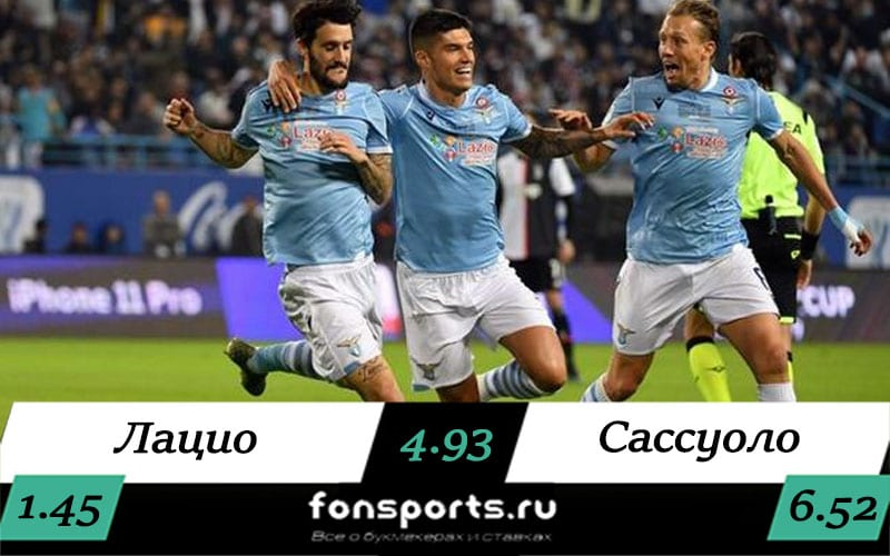 Лацио — Сассуоло 11 июля 2020: прогноз и статистика матча
