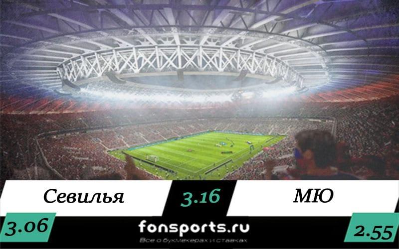 Севилья – Манчестер Юнайтед: кто победит 16 августа 2020