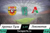 Арсенал Тула – Локомотив: прогноз и статистика (6 декабря 2019)