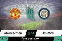 Манчестер Юнайтед – Интер прогноз и статистика 20 июля 2019