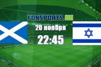 Шотландия – Израиль (20 ноября 2018): прогноз и коэффициенты на матч